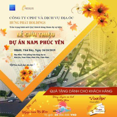 Thư mời tham dự lễ giới thiệu dự án khu đô thị Nam Phúc Yên